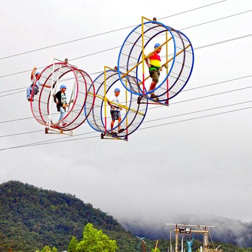 【菲律賓】空中倉鼠滾輪