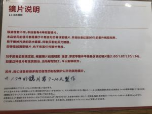 日本配眼鏡鏡片說明