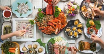 A bite of seafood