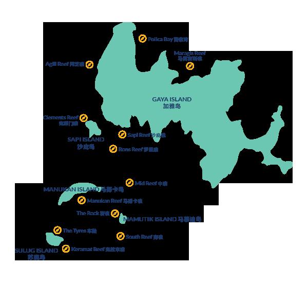 馬來西亞潛水 沙巴島潛點