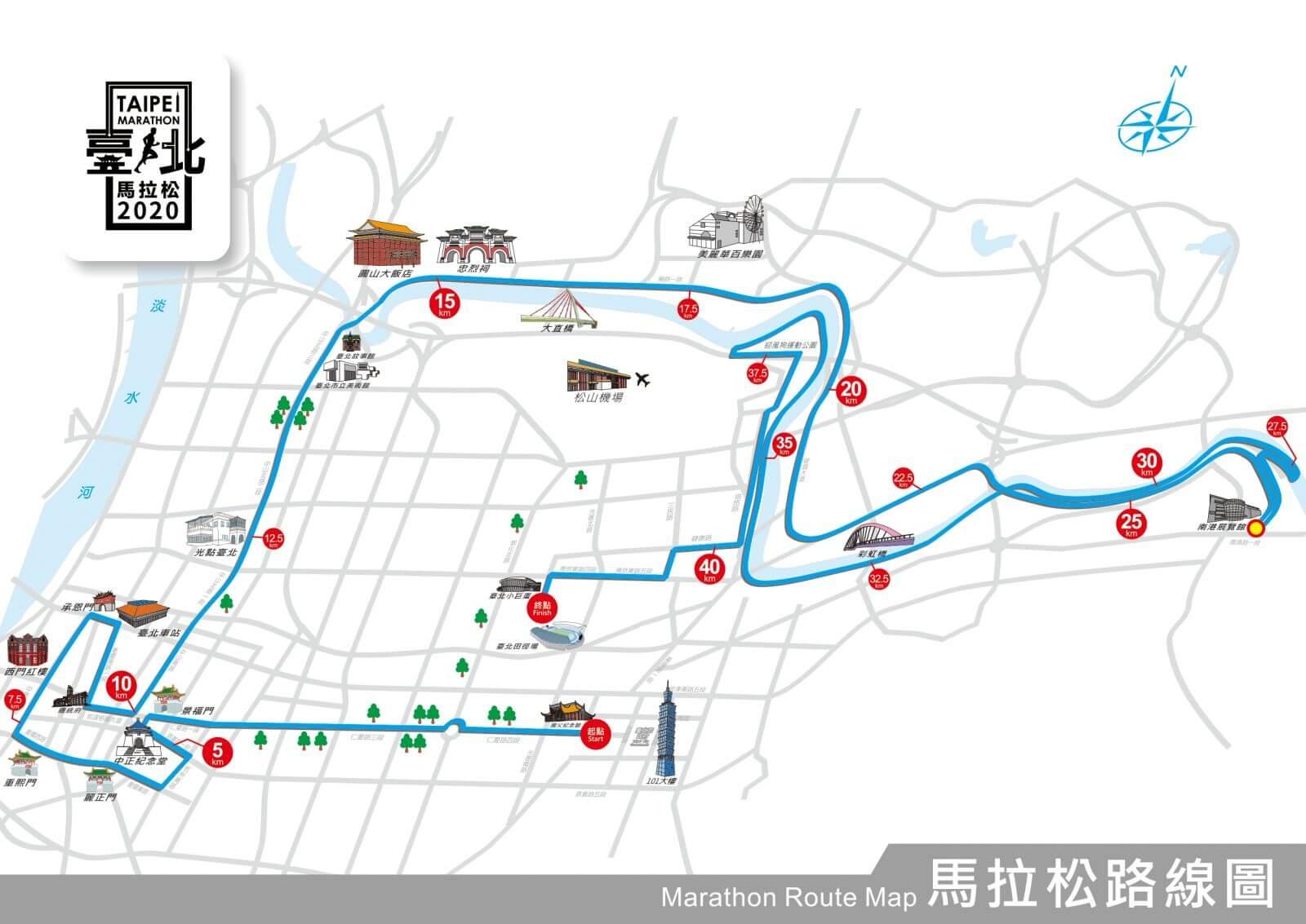 台北馬拉松 馬拉松路線